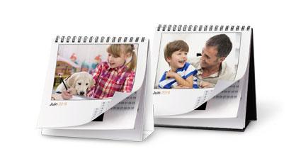 Les calendriers photo mes photos sur un calendrier - Calendrier sur le bureau ...